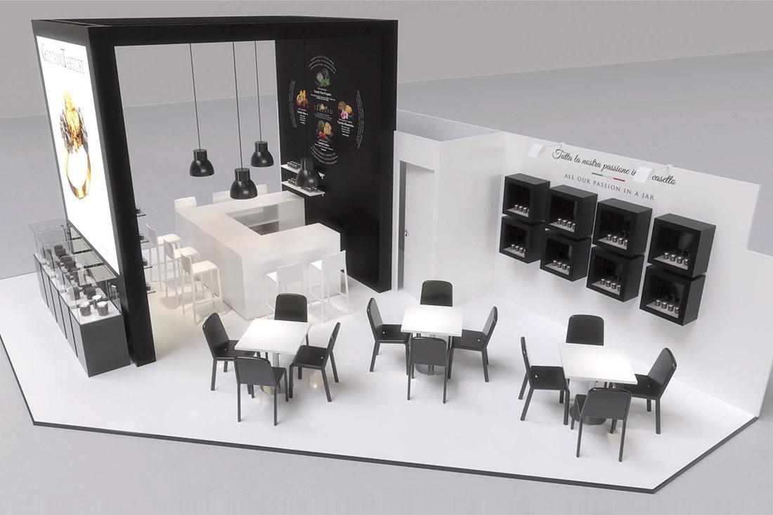 progettazione stand con render 3d